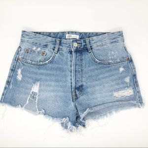 Zara Authentic Denim by TRF Jean Shorts